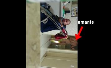 Esposa flagra marido com babá e atira